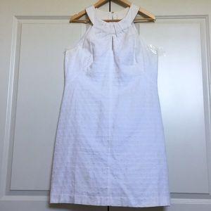 White WHBM high Neck patterned Dress stunning